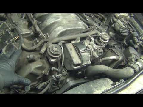 Mercedes-Benz G-класса M112 не едит и жрет бензин. Запуск после промывки впускного коллектора Ч3