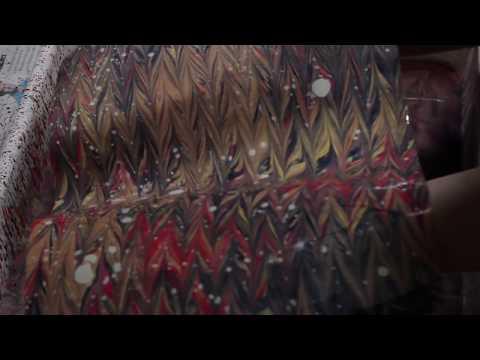 Turkish Ebru Marbling Patterns, Time Lapse Paper Marbling