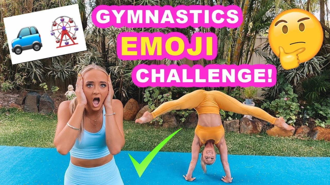 ACRO GYMNASTICS EMOJI CHALLENGE!!!