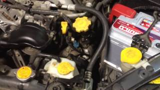 Replacing the cooling fluid Subaru Outback/Legacy Замена антифриза