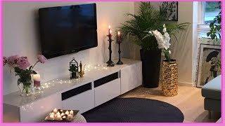اشكال و ديكورات مودرن تساعدك في اختيار طاولات التلفاز  Modern Decorate Around Your TV Stand💕 💕 💕