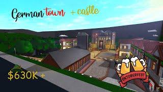 Old German Town + Castle I roblox bloxburg speedbuild