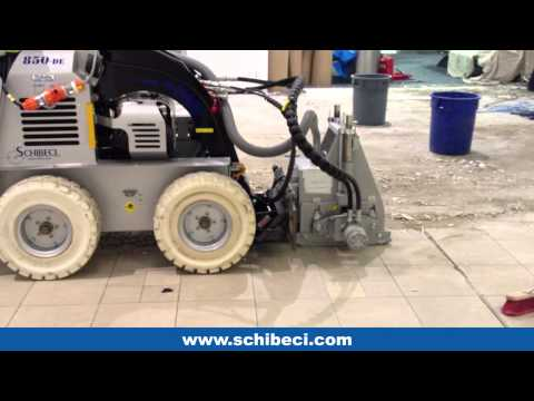 High Production Tile Removal at Sydney Airport - Schibeci 850DE & 2500R