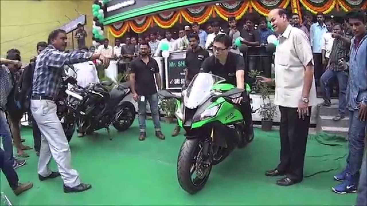 Kawasaki Hyderabad Inaugurationzx10rzx14rz1000z800ninja1000