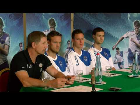 Finland Unveiled The New Adidas Home Shirt 2010/12 Before The Malta Match.