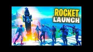THE FORTNITE ROCKET LAUNCH!!!