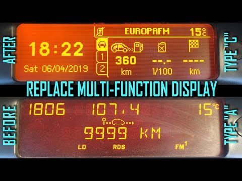 How to Replace Multi-function Display Peugeot 307