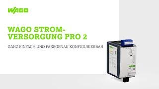 WAGO Stromversorgung Pro 2 Tutorial: Konfiguration