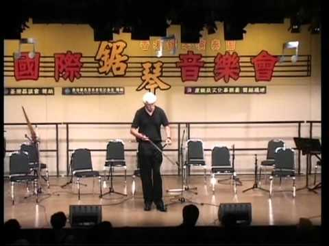 Musical Saw Player Morgan Cowin plays two classical pieces in Hong Kong in 2006.