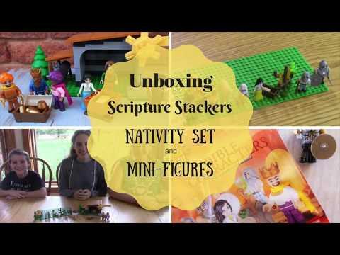 Unboxing Scripture Stackers Nativity & Mini-figures
