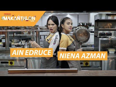 'Ain Edruce Rebus Pasta Sampai Hangus Bersama Niena Azman?'    Makanthlon [EP 01]