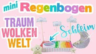 REGENBOGEN ZEN GARTEN mit SLIME POOL!! Miniatur Wolken! 🌈 DIY Zengarten Spielzeug selbermachen!