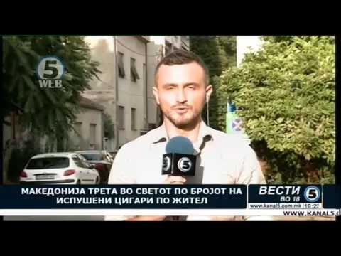Македонија трета во светот по бројот на испушени цигари по жител