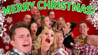 RIDICULOUS FAMILY CHRISTMAS PARTY! Ellie + Jared Family Christmas Special