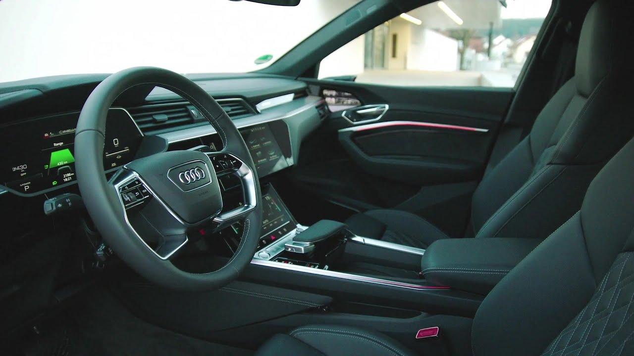 The New Audi E Tron Sportback Interior Design In Catalunya Red Youtube