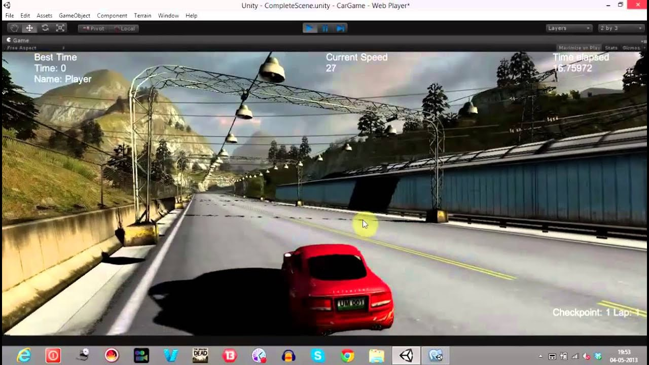game creation tutorial 7 unity3d car game creating lap and