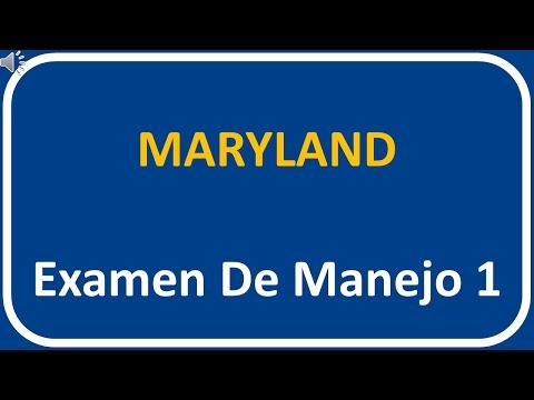 Examen De Manejo De Maryland 1