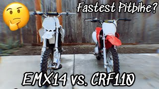 CRF110 VS EMX14 Which is Fastest? Pit Bike Showdown