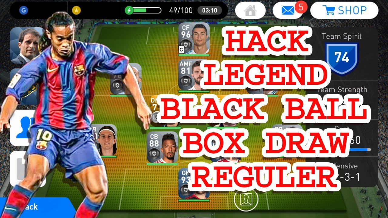Update Hack Legend , Black Ball , Box Draw & Reguler Easy Tutorial - Pes  2019 Mobile/Android
