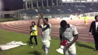 2015年 FC岐阜 第34節 常澤、ヘニキ、レオ