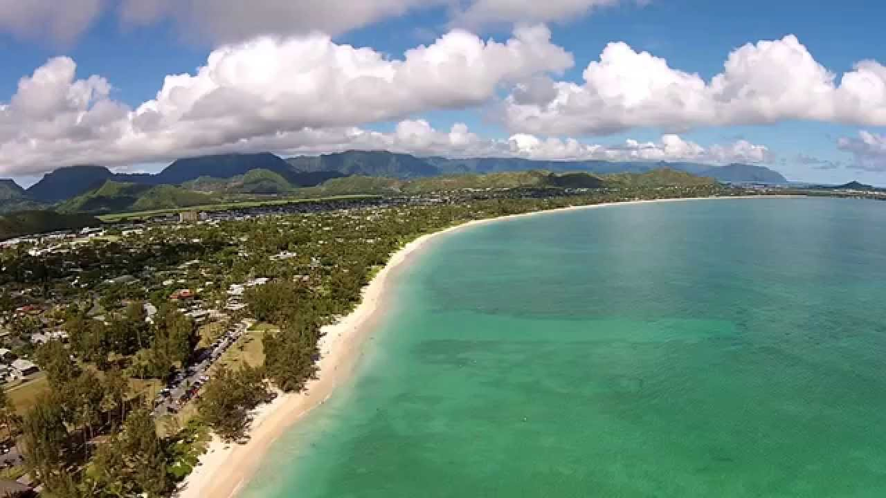 kailua beach park kailua hawaii island of oahu dji phantom drone