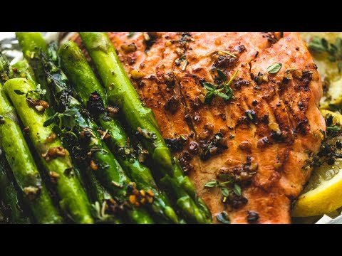 Herb Butter Salmon and Asparagus Foil Packs