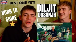 Gambar cover DILJIT DOSANJH - BORN TO SHINE (Official Music Video) G.O.A.T | GILLTYYY REACT