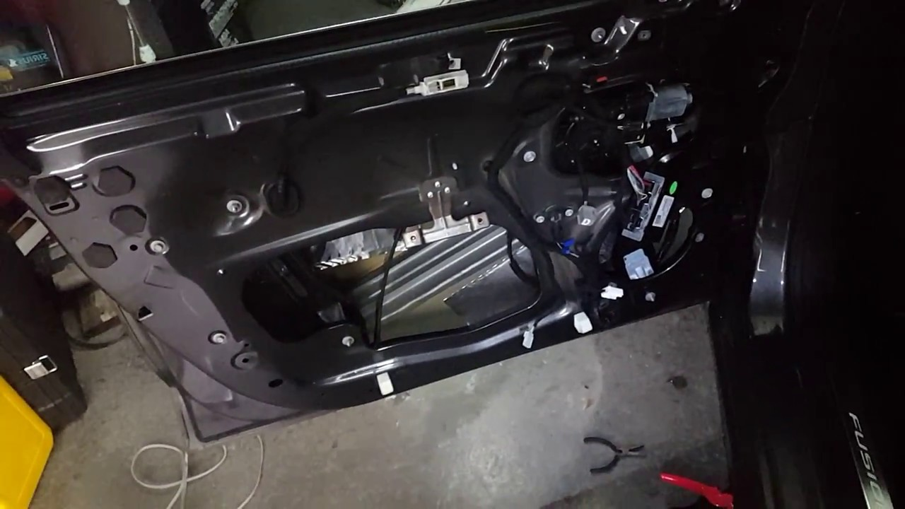 How to install door wire harness on a ford fusion - YouTube