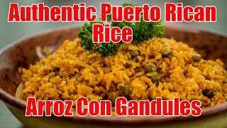 Authentic Puerto Rican Rice/arroz Con Gandules Recipe