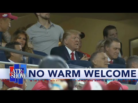 """Crowd Chants """"Lock Him Up"""" At Trump During World Series Game 5"""