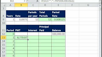 Excel Amortization Table Tricks - YouTube