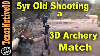 5 Year Old Shooting a 3D Archery Match