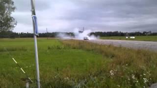 Knackan bmw e36 turbo 744whp burnout