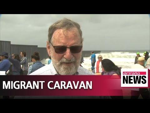 'Caravan migrants' reach U.S.-Mexico border