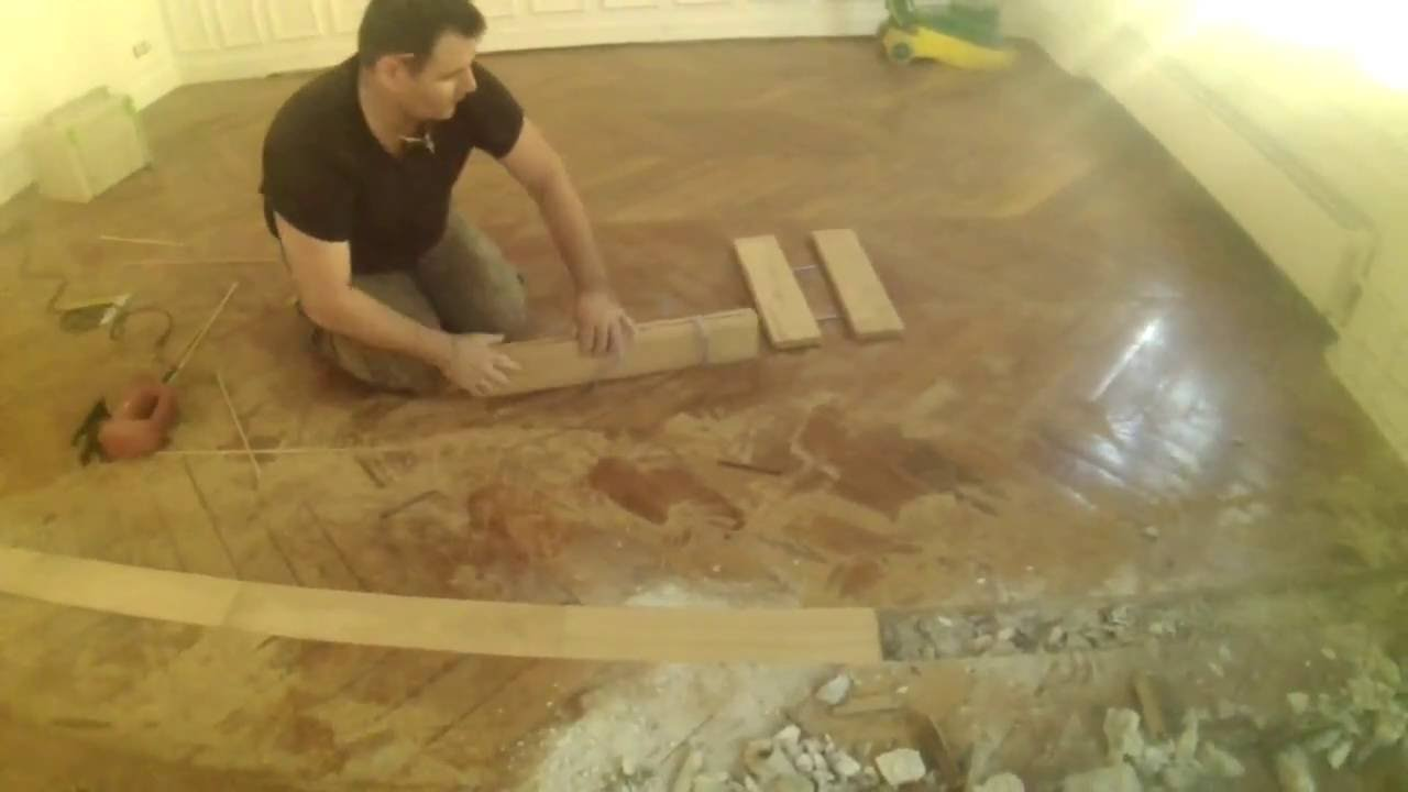 Parquet suppression cloisons raccord sols apr s youtube for Parquet carrelage paris 17