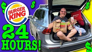 Living at Burger King for 24 Hours | Stealth Camping