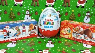 Kinder Surprise Eggs Maxi Kinder Christmas Toys Opening & Unboxing Thumbnail