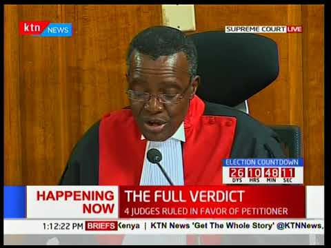 Chief Justice, David Maraga on issues with irregularities and illegalities [Part 2]
