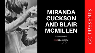 GC Presents: Miranda Cuckson and Blair McMillen at Zink Bar February 24th, 2015