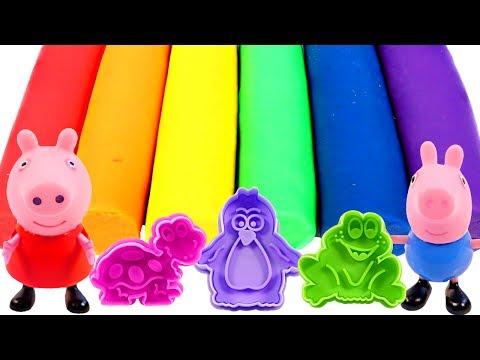 Mejores Videos Para Niños Aprendiendo Colores - Peppa pig Play Doh Cookie Cutters Learning Colors