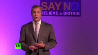 Farage: Cameron is Piggy in the Middle
