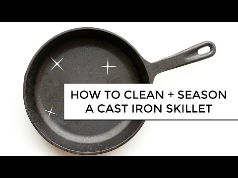 How To Restore, Season + Clean A Cast-Iron Skillet