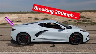 homepage tile video photo for Setting the C8 Corvette TOP SPEED World Record!