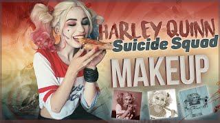 Harley Quinn makeup tutorial Suicide Squad / Перевоплощение в Харли Квинн