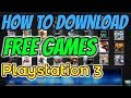 How to download games PS3 Playstation 3 Jailbreak