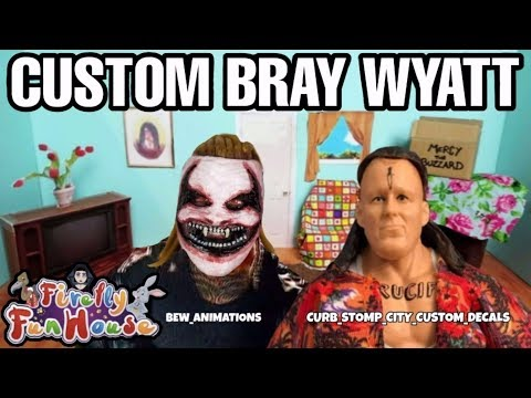 Custom Fiend Action Figure & Other Bray Wyatt Firefly Fun House Items