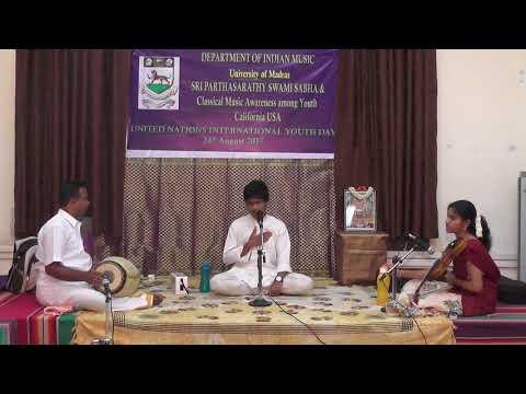 Sri Partha Sarathy Swami Sabha  l Department of Indian Music l University of Madras