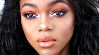 KYLIE Cosmetics Royal Peach Palette Inspired Makeup TUTORIAL