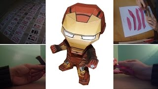 PAPERCRAFT #7 - Iron Man - Marvel (Stop Motion)