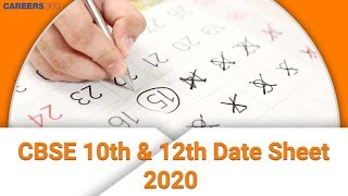 CBSE 10th, 12th Date Sheet 2020 Released | cbse.nic.in